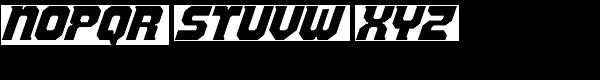 Vulcana-Italic Font UPPERCASE