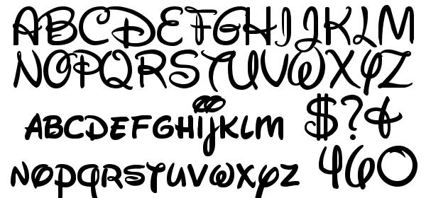 Walt Disney Script v4 1 free Font