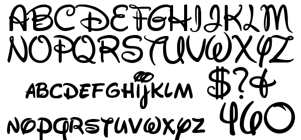 Walt Disney Script free Font