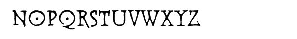 Warhorse BB Deco Font LOWERCASE