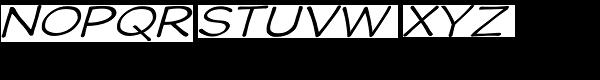 Wastrel Light Expand Oblique Font UPPERCASE