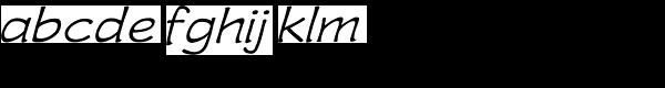 Wastrel Light Expand Oblique Font LOWERCASE