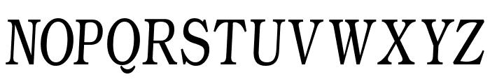 WeekdaysRomanSlant Font UPPERCASE