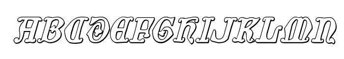 Westdelphia 3D Italic Font UPPERCASE