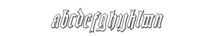 Westdelphia 3D Italic Font LOWERCASE