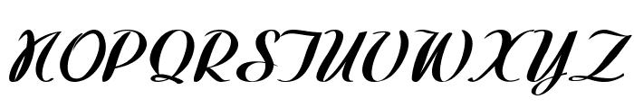 Westfield-BoldItalic Font UPPERCASE
