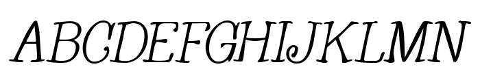 Whackadoo Upper Italic Font UPPERCASE