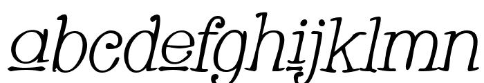 Whackadoo Upper Italic Font LOWERCASE