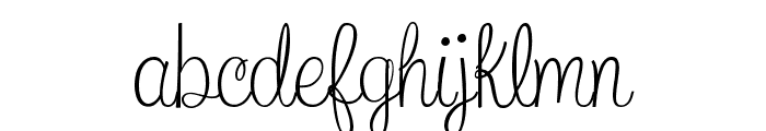What I Want For Christmas Font LOWERCASE