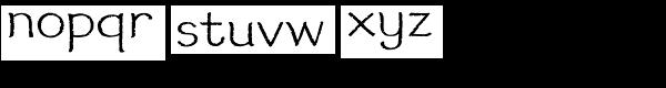 Wheat Font LOWERCASE