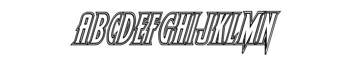 Wolf's Bane Engraved Italic Font LOWERCASE