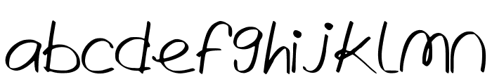 WrittenLies Font LOWERCASE