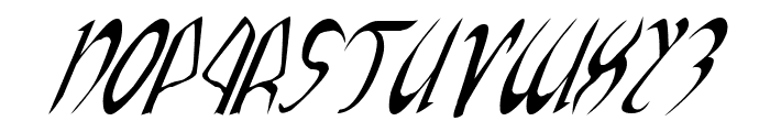 Xaphan Italic Font UPPERCASE