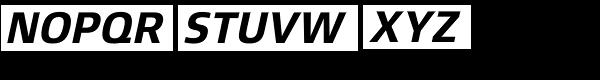 Xenois Sans Pro Bold Italic Font UPPERCASE
