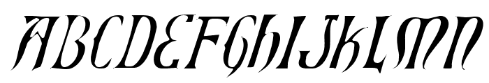 Xiphos Light Italic Font LOWERCASE