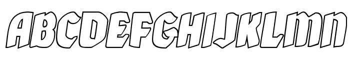 Xmas Xpress Outline Italic Font LOWERCASE