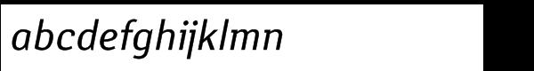 Yanus ItalicMultilingual Font LOWERCASE