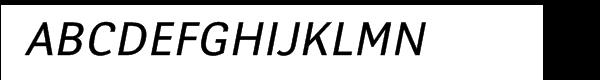 Yanus Multilingual Italic Font UPPERCASE