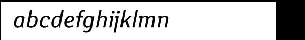 Yanus Multilingual Italic Font LOWERCASE
