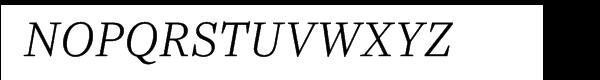 Ysobel Pro Light Italic Font UPPERCASE