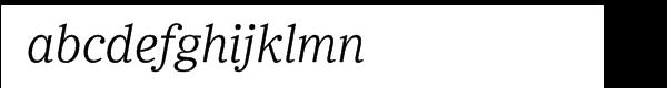 Ysobel Pro Light Italic Font LOWERCASE