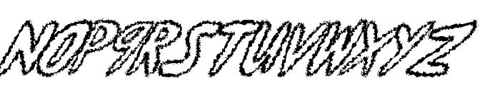 yumernub fuzzy Font UPPERCASE