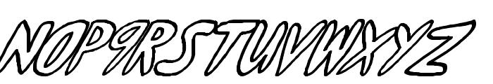yumernub slanty Font UPPERCASE