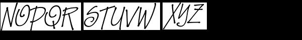 Zape Small Caps Italic Font UPPERCASE