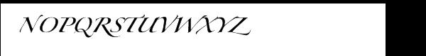 Zapfino™ Extra Forte One Font UPPERCASE