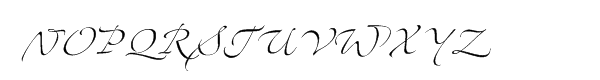 Zapfino™ Two Font UPPERCASE