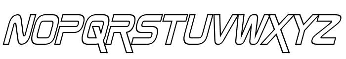 Zebulon Condensed Hollow Italic Font LOWERCASE