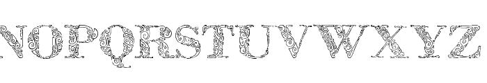 Zsylett Font UPPERCASE
