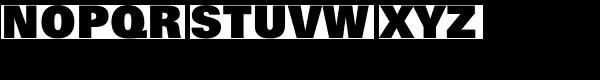 Zurich Extra Black Font UPPERCASE