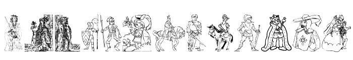 001 Medieval Daze Font UPPERCASE