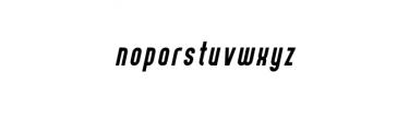 07. Curve Calibartion italic.otf Font LOWERCASE