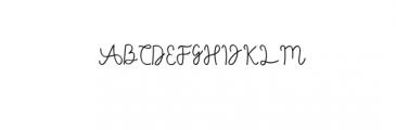 (AgashiSignatureFont.otf) Font UPPERCASE