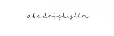 (AgashiSignatureFont.otf) Font LOWERCASE