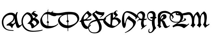 _a e i o u Font UPPERCASE