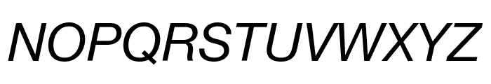 .Helvetica NeueUI Italic Font UPPERCASE