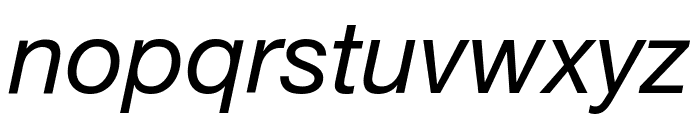 .Helvetica NeueUI Italic Font LOWERCASE