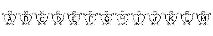 *heart2heart* Font UPPERCASE