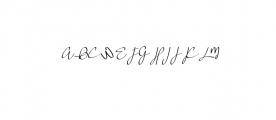 [Kalikulla] Fevelynn - Signature OTF Font UPPERCASE
