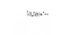 (KiranIAHandwrittingFont) Font OTHER CHARS