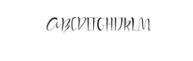 (KiranIAHandwrittingFont) Font UPPERCASE