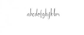 (KiranIAHandwrittingFont) Font LOWERCASE