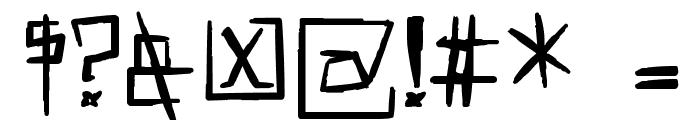 !MISQOT Heavy Font OTHER CHARS