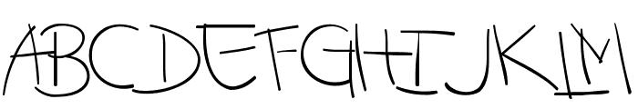 -MoodySpaghetty-DemoLight Font UPPERCASE