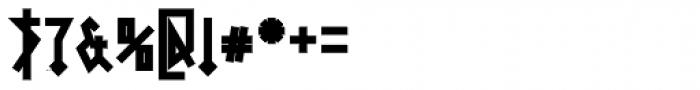 0Metal Black Font OTHER CHARS