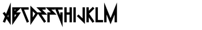 0Metal Black Font UPPERCASE
