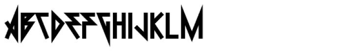 0Metal Black Font LOWERCASE